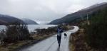 Rain along Loch Ericht
