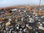 A stony descent