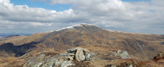 Stuc a Chroin from the summit of Beinn Each. These were the days when I was sorely tempted to follow the ridge around to the neighbouring Munro. Wisely I opted for an easy, lounge about day.